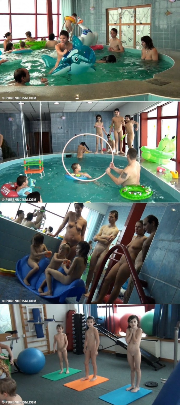 Indoor Swim Family Exercises (PureNudism)