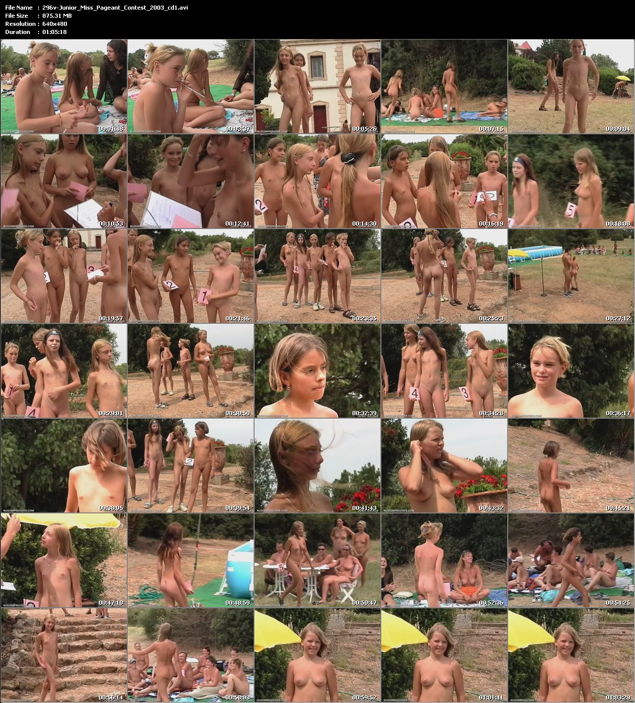 namansite nudism Junior Miss Pageant Contest 2003