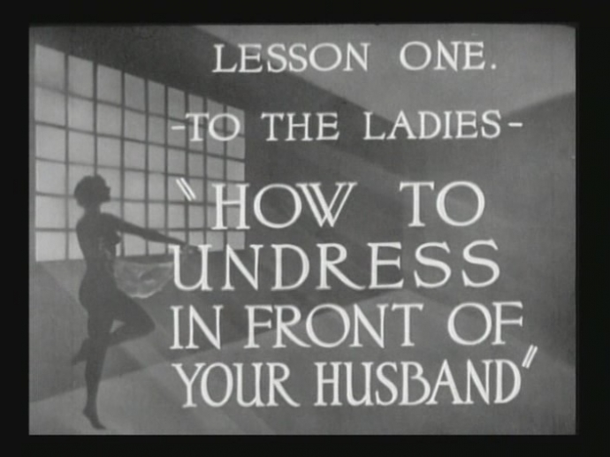 How To Undress vintage 1937