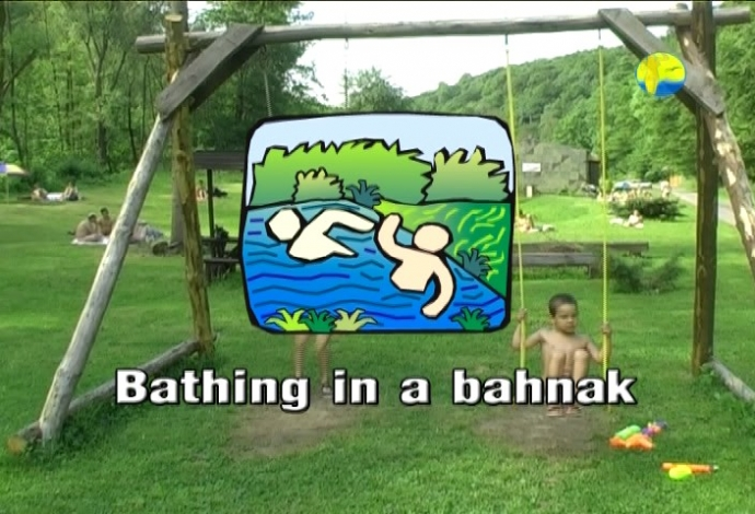 Bathing in a Bahnak (NaturistFreedom)