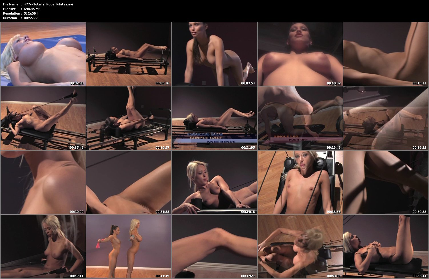 Totally nude pilates