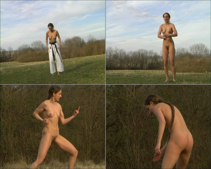 Nadine Nude Karate On The Meadow
