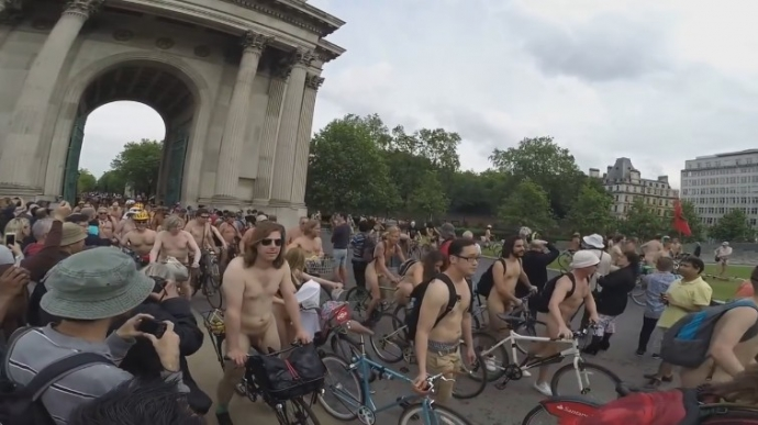 World naked bike ride 2016 London