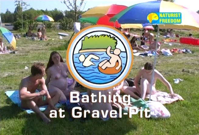 Bathing at Gravel-Pit (NaturistFreedom)