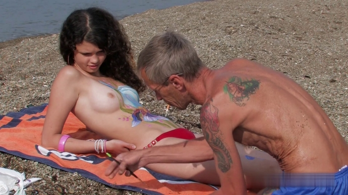 Nude teens girls summer rest 1-5 (Body Art Nudist Beach 2)